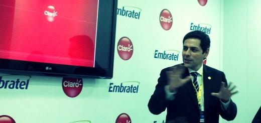Carlos Zenteno, presidente da Claro. Imagem: Lucas Ledesma, TeleSemana.com / Carlos Zenteno, presidente de Claro Brasil. Imagen: Lucas Ledesma, TeleSemana.com.