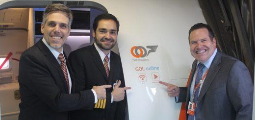 Gol realizó el primer vuelo con Internet a bordo de Latinoamérica. Imagen: Gol.