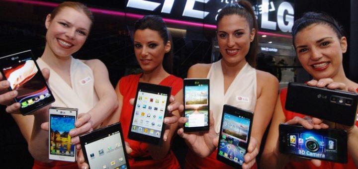 Evolución de la ventas de smartphones por trimestre a nivel mundial