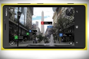 HERE City Lens, en un Nokia Lumia 920