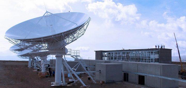 Estación terrena de Amachuma, en las afueras de La Paz. Imagen: ABE.