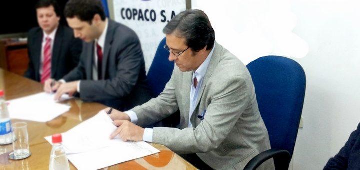 Rogelio Benítez, presidente de Copaco (derecha). Imagen: Copaco.