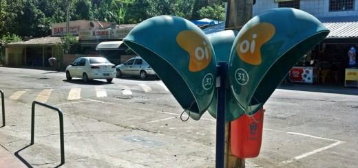 Teléfonos públicos de Oi en Río de Janeiro. Imagen: Lucas Ledesma/TeleSemana.com.