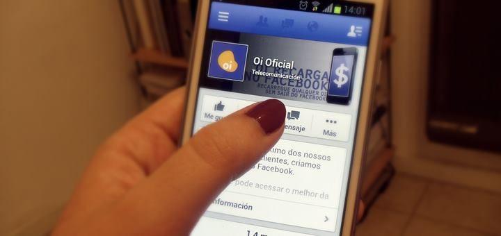 Oi lanza aplicación para recargar el móvil a través de Facebook