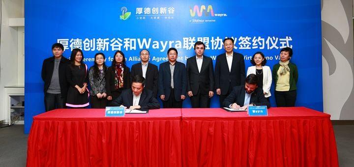Wayra firma acuerdo con incubadora china VIV