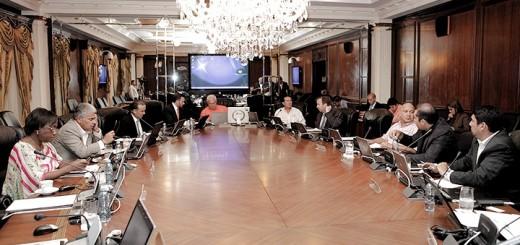 Reunión del Consejo de Gabinete. En la cabecera, el Presidente de Panamá, Ricardo Martinelli. Imagen: Presidencia Panamá.