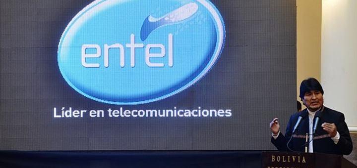 Presidente Evo Morales anuncia acuerdo entre Entel y ABE. Imagen: Entel