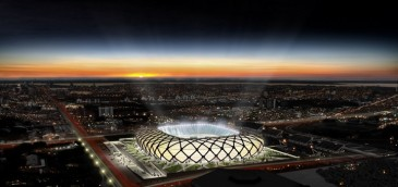 Estadio Arena da Amazônia. Imagen: GE Lighting.
