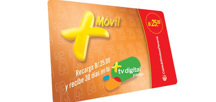 Tarjeta prepago de +TV Digital. Imagen: Cable & Wireless Panamá