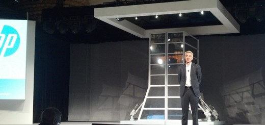 Bill Veghte, vicepresidente ejecutivo y gerente general de HP Enterprise Group, durante la apertura del HP Discover. Imagen: Lucas Ledesma/TeleSemana.com.