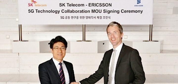 SK Telecom y Ericsson firman acuerdo para colaborar en el desarrollo de la 5G