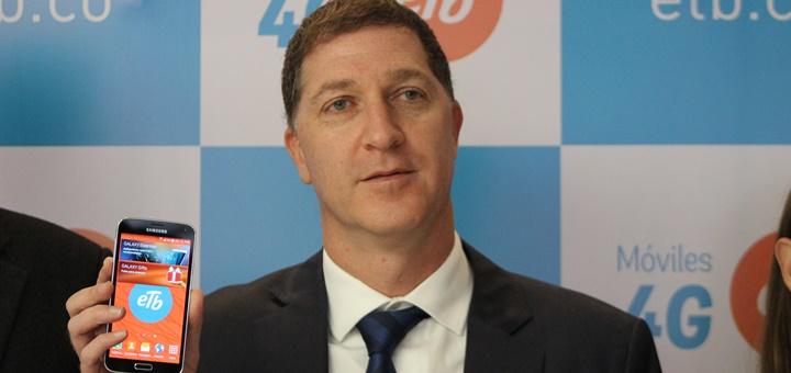 Saúl Kattan, presidente de ETB en la presentación de su servicio móvil. Imagen: ETB