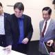 El secretario de Comunicaciones, Norberto Berner, y el subinterventor de la CNC, Nicolás Karavaski, en la visita al Centro de Información Ejecutiva de Huawei en Beijing. Imagen: Huawei.