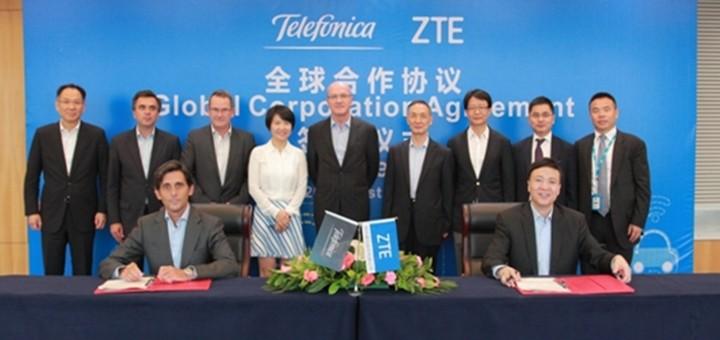 Telefónica y ZTE suscriben acuerdo de cooperación global