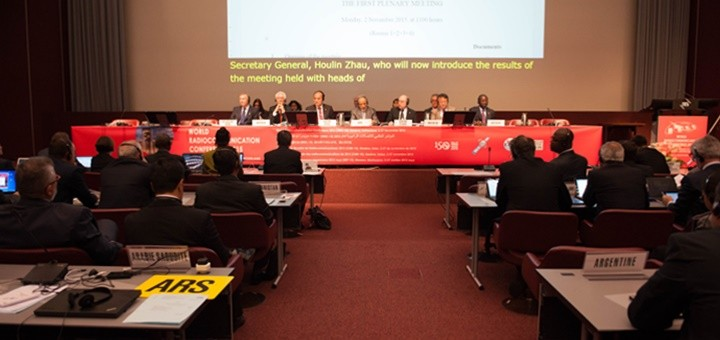 Conferencia Mundial de Radiocomunicaciones. Imagen: UIT