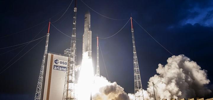 Lanzamiento del StarOne C4. Imagen: Embratel Star One