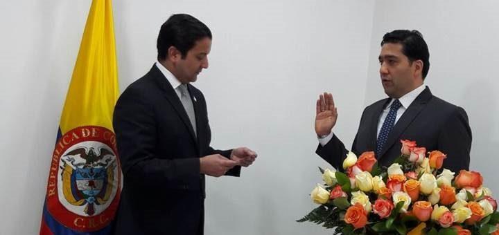 Jura de Germán Bacca Medina como comisionado de la CRC. Imagen: Mintic