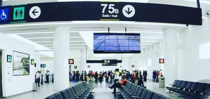 Sala 75 del aeropuerto internacional de la Ciudad de México. Imagen: SCT