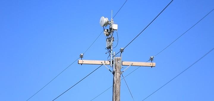 Prototipo de punto de acceso Wi-Fi utilizando mmWave Radio. Imagen: AT&T