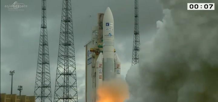 Lanzamiento del Star One D!. Imagen: Arianespace.