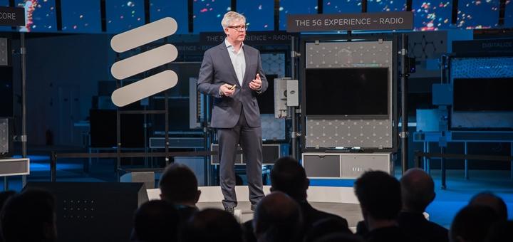 CEO de Ericsson en el Mobile World Congress. Imagen: Ericsson.