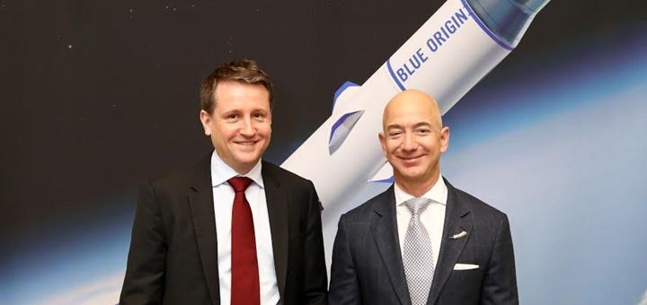 Acuerdo entre Eutelsat y Blue Origin. Imagen: Eutelsat.