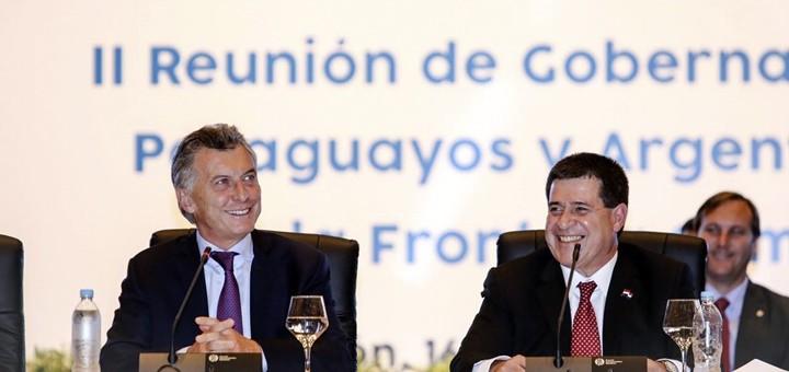Horacio Cartes y Mauricio Macri. Imagen: Ministerio de Relaciones Exteriores de Paraguay.