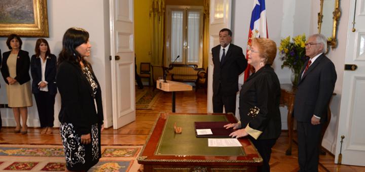 Tapia es la nueva ministra de Transportes y Telecomunicaciones de Chile. Imagen: Presidencia de Chile