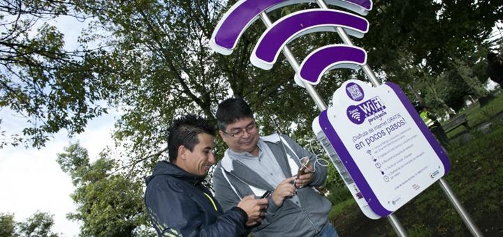 Nuevas zonas Wi-Fi en Popayán. Imagen: Mintic.
