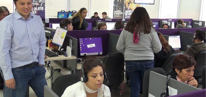 Call Center III de Wom. Imagen: Wom.