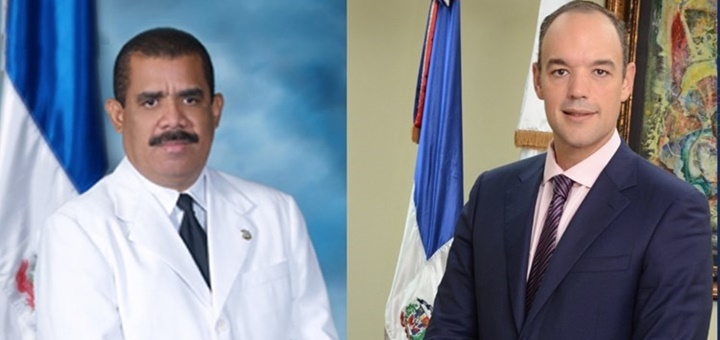 Máximas autoridades de Conatel Haití e Indotel. Imagen: Indotel.