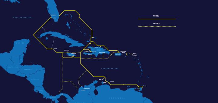 Cable Submarino para el Caribe. Imagen: Deep Blue Cable.