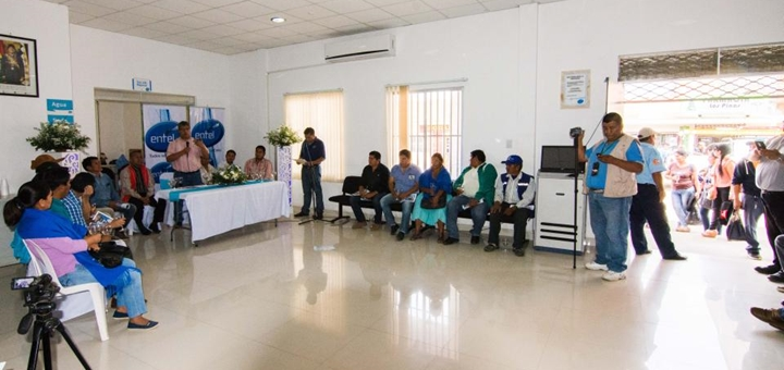 Entel presenta fibra óptica en Monteagudo. Imagen: Entel.