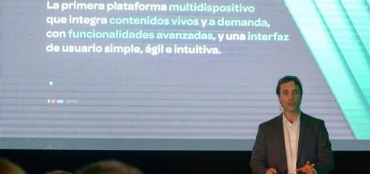 Gonzalo Hita, CCO de Cablevisión, presentó Flow en Uruguay. Imagen: Cablevisión