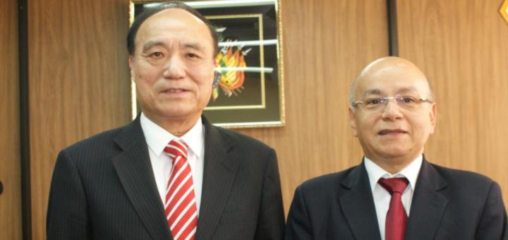 Houlin Zhao (UIT) y Roque Roy Méndez (ATT). Imagen: ATT.