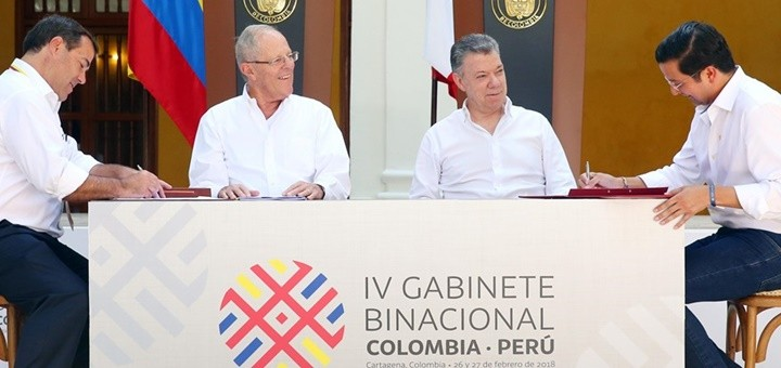 IV Gabinete Binacional Colombia-Perú. Imagen: MTT Perú