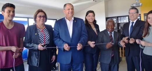 Presidente Solis inaugurá CECI en Cartago. Imagen: Micitt.