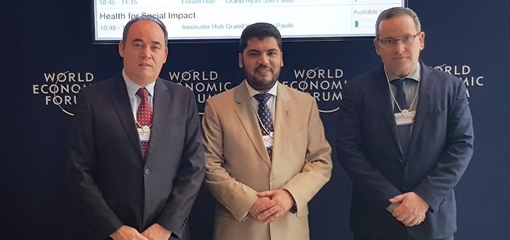 El acuerdo se firmó en la edición latinoamericana del Foro Económico Mundial, en San Pablo. Imagen: Ericsson.