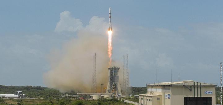 Lanzamiento de satélites MEO de SES. Imagen: SES.