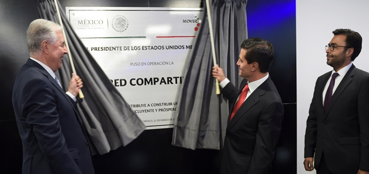 Peña Nieto puso en marcha la Red Compartida. Imagen: Gobierno de México.