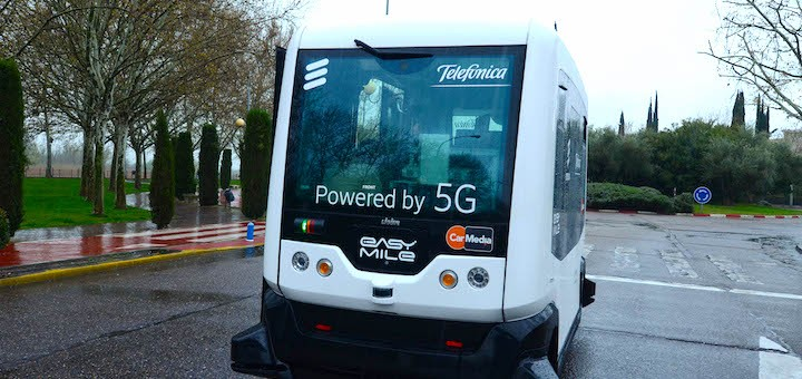 Telefónica presenta caso de uso 5G: conducción autónoma