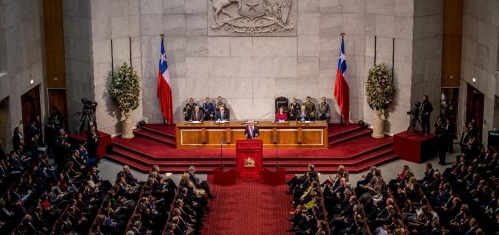 Sebastián Piñera ante el Congreso Nacional. Imagen: Subtel.