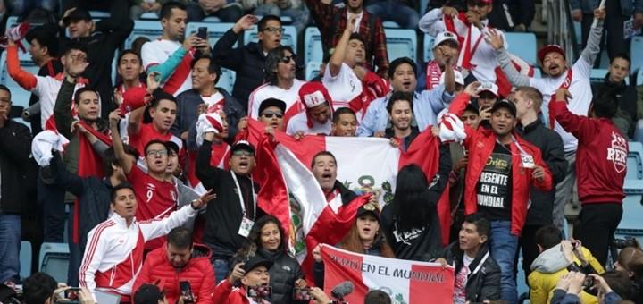 Hinchada de Perú. Imagen: Federación Peruana de Fútbol.
