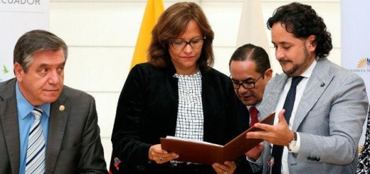Secretario de Comunicación, Andrés Michelena, entrega proyecto a la Asamblea Nacional. Imagen: Secretaria de Comunicación.