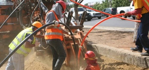 Trabajos en el edificio de Falcón. Imagen: Conatel Venezuela.