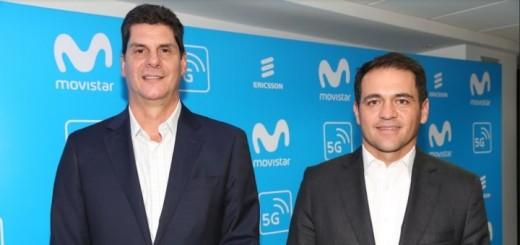 Andrés Quintero, gerente General de Ericsson Colombia y Fabián Hernández, CEO de Telefónica Colombia. Imagen: Telefónica Colombia.