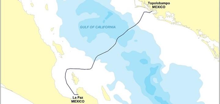 Desplegarán cable submarino sobre el Golfo de California. Imagen: Huawei.