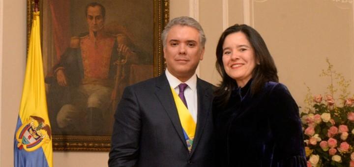 Ivan Duque y Sylvia Constaín. Imagen: Mintic Colombia.