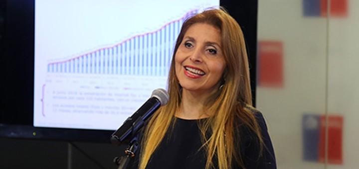 Pamela Gidi, titular del regulador chileno. Imagen: Subtel.