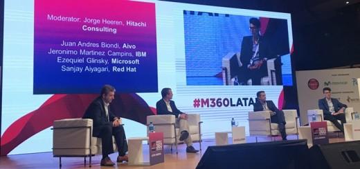 Panel sobre inteligencia artificial en M360 Latinoamérica. Imagen: TeleSemana.com